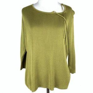 Requirements sweater PM green ribbed 3/4 sleeve